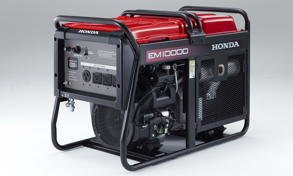 the new honda em10000 generator has landed
