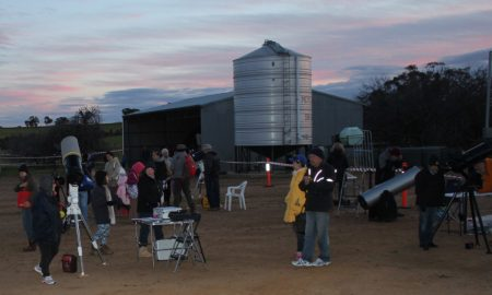 Ten telescopes on display at UWA Farm Ridgefield