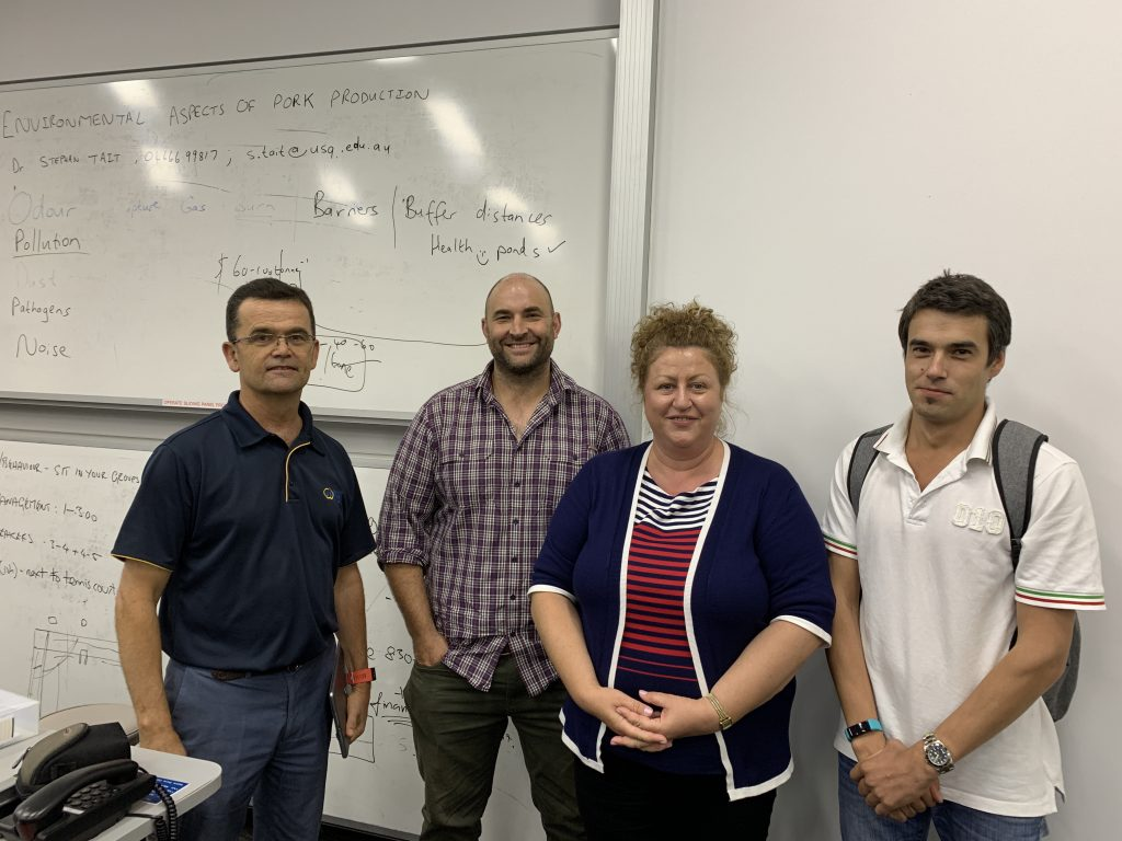 At the 2019 Roseworthy course were Pork CRC Manager, Commercialisation and Research Impact, Dr Charles Rikard-Bell, course co-ordinator and teacher Dr Will van Wettere, University of Adelaide and participants Dr Valentina Alexa and Valentin Cusnir, both of Alexa Piggery, Tara, Queensland.