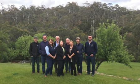 The Victorian DELWP/AWI Wild Dog Community Coordination team met at Anglers Rest, Vic late November 2018 to review the previous season and plan the year ahead. Lucy-Anne Cobby (front, left) is quoted in the story.