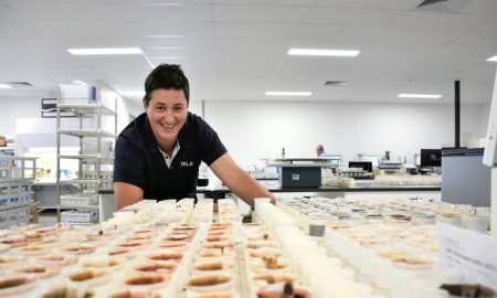 APAL managing director Dr Ryan Walker at the company's new laboratory in Hindmarsh, SA.