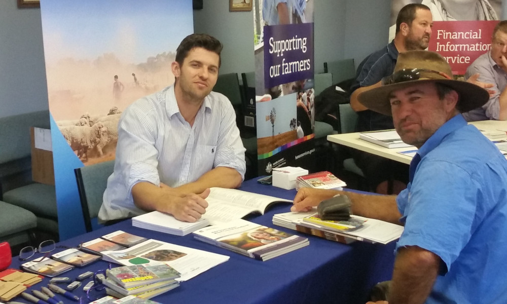 Trent McCarthy and Hayden Cullinan from Nindethana Station