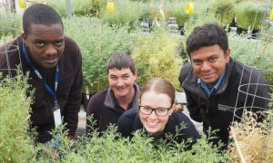 IMAGE: Solomon Maina, Josh Fanning, Abby Griffin and Arun Shunmugam.