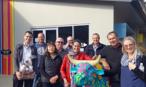 At the 2018 intra-state study tour are (L-R) Thiago Bacellar, Margaret River Dairy Company; Paul Shain, Loveapple; Patricia Elphinstone, Department of Primary Industries and Regional Development; Bernie Worthington, Drakesbrook Fine Wines; Brian Backhouse, Costa Group; Chris Higham, Homestead Hampers; Mike Bowley, Mid-West Development Commission; Phil Frzop, Loveapple and Hayley Wells, llegal Tender Rum Co.