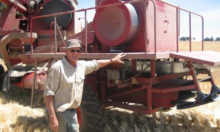 Ray Harrington, inventor of the Harrington Seed Destructor and winner of the 2018 Farming Legend of the Year Award. Photo: GRDC