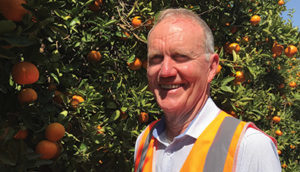 Jeff Milne is the surveillance coordinator at Citrus Australia. Image courtesy of Citrus Australia