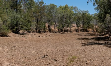drought dry australia creek bed stock image