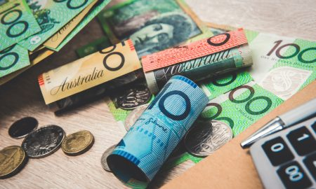 money australian cash stock image