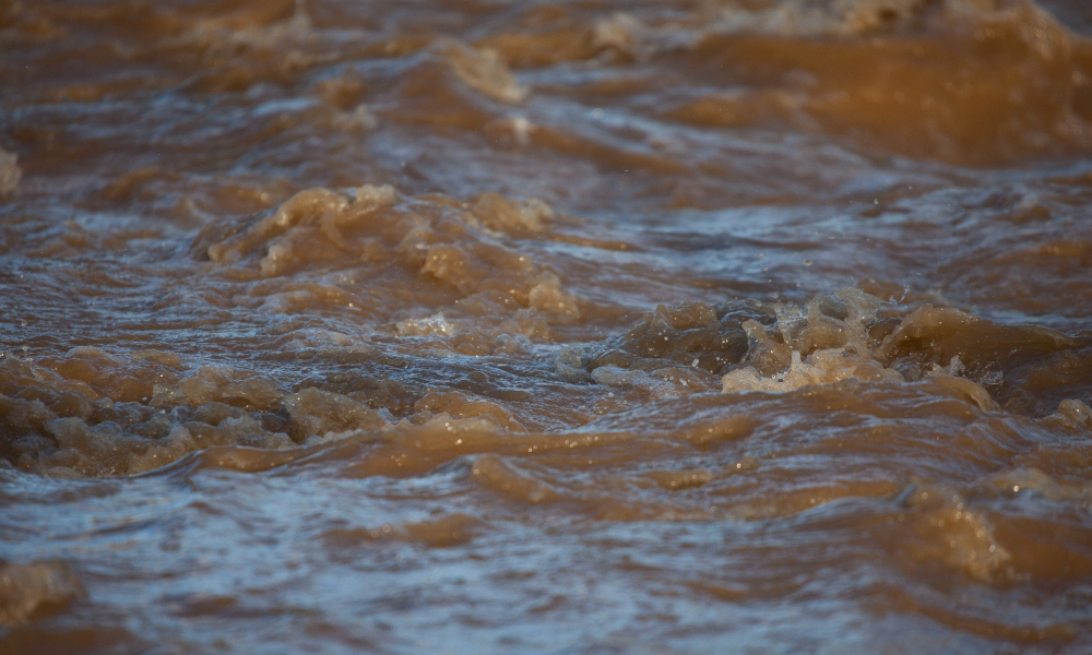 flood dirty water stock image