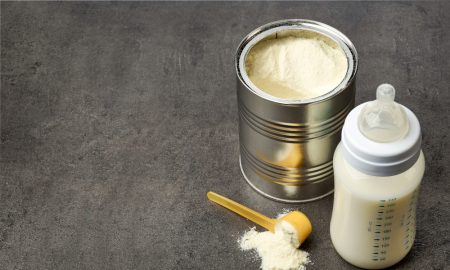 milk powder stock image